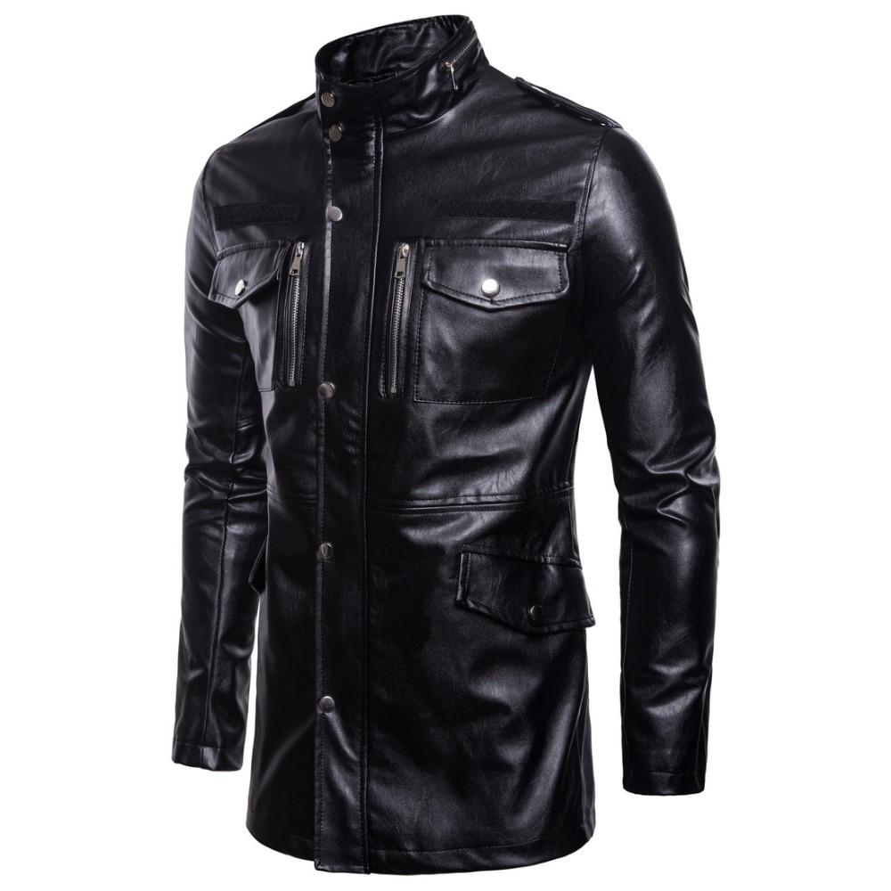New Classic Motorcycle Jacket Men Pigskin Moto Jacket Motorcycle Clothing Biker Coats Windproof Jacket Large Size 5XL