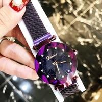 New Brand Women Rose Gold Watch Ladies Crystal Bright Star Bracelet Watches Dress Wristwatch Woman Montre Femme reloj mujer 2018