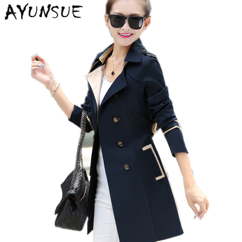41c08556774ab Aliexpress.com   Buy New 2018 spring autumn british style women fashion  casual long double breasted trench overcoat plus size XXXXL S2411 from  Reliable ...