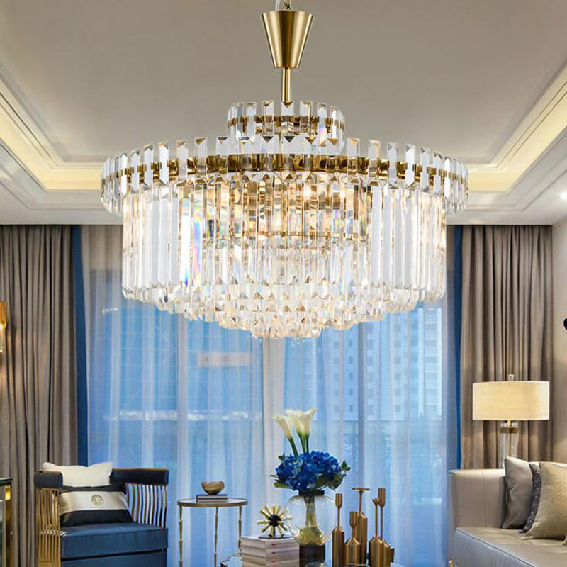 Modern minimalist crystal lamp neoclassical fashion personality creative bedroom dining room living room American designer lamps led creative personality chandelier modern minimalist dining room bedroom lamp romantic living room lamp