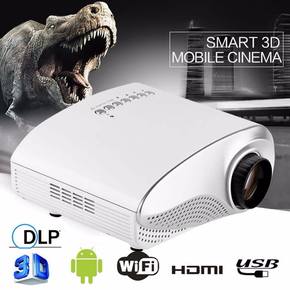 HD 1080P AV HDMI Home Cinema Theater Movie Multimedia LED Projector White US hdmi projector usb projector