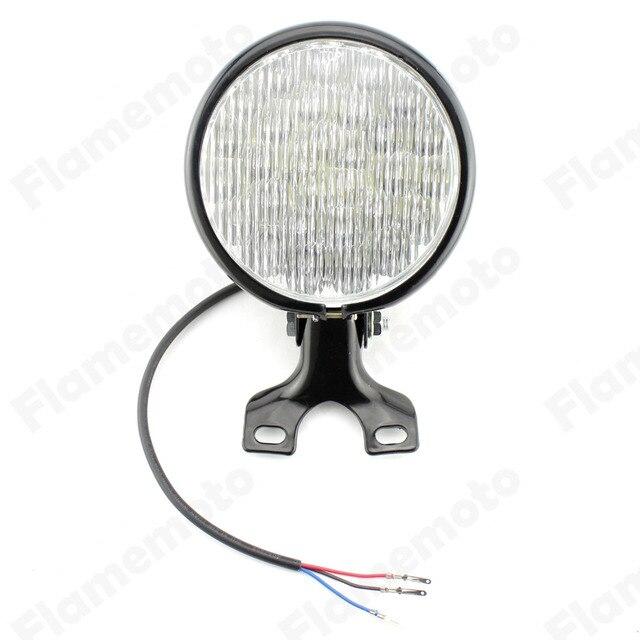 """Black 5"""" LED Motorcycle Headlight Head Lamp For Harley Bobber Chopper Sportster/Custom/Custom XL"""