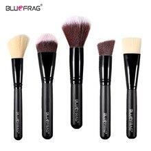 NEW Brand BLUEFRAG Beauty 5pcs Black Professional Makeup Brushes Set make up Tools Kits cosmetics powder foundation blush brush