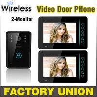 1V2 7 Inch Wireless Video Door Phone Doorbell Intercom Touch Key IR Nigh Vision Waterproof Door
