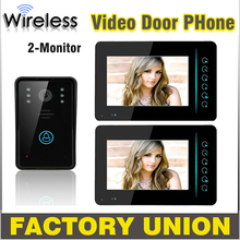 1V2 7 Inch Wireless Video Door Phone Doorbell Intercom Touch Key IR Nigh Vision Waterproof Door Camera Video Intercom System