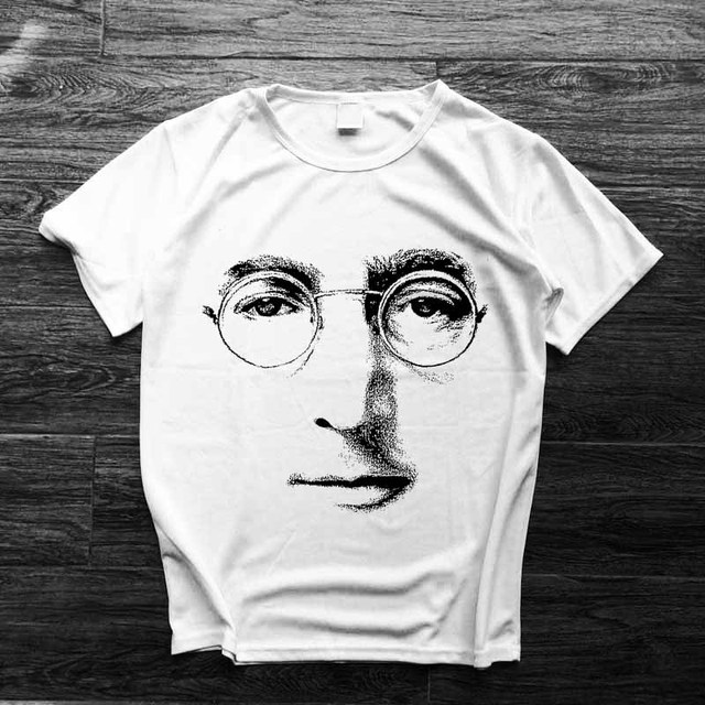 289d46554 classic big face tee John Lennon sketch print men women size music fans  summer t shirt