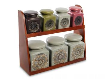 Набор банок для сыпучих продуктов Art East, 8 предметов