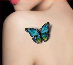 (Min Order $0.5) 3D Butterfly Flash Tattoo Waterproof Temporary Tattoo Tatoo Tatto Henna Makeup Halloween WM004B