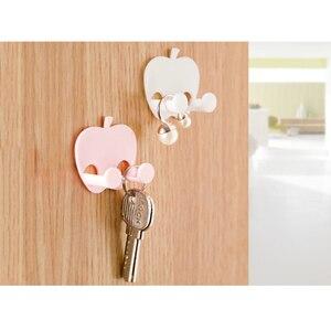 Image 2 - Soporte de llave de pared para casa de 5 piezas ganchos de pared adhesivos para auriculares colgador de llaves de cocina toallas de baño colgador de ventosa gancho