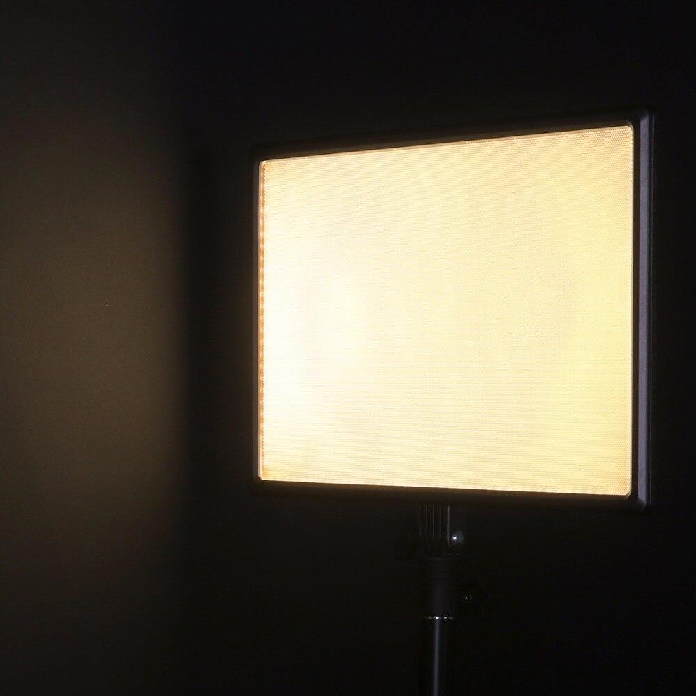 Luxpad43 DSLR Camera LED Light Pode Ser Escurecido Painel de Iluminação Fotográfica CRI95 Bi Color 3200 K 5600 K Luz de Vídeo com Adaptador de Energia AC - 6