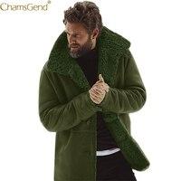 2018 New Winter Coa Men's Sheepskin Jacket Warm Wool Lined Mountain Faux Lamb Jackets Coat Leisure Long Sections Nov21