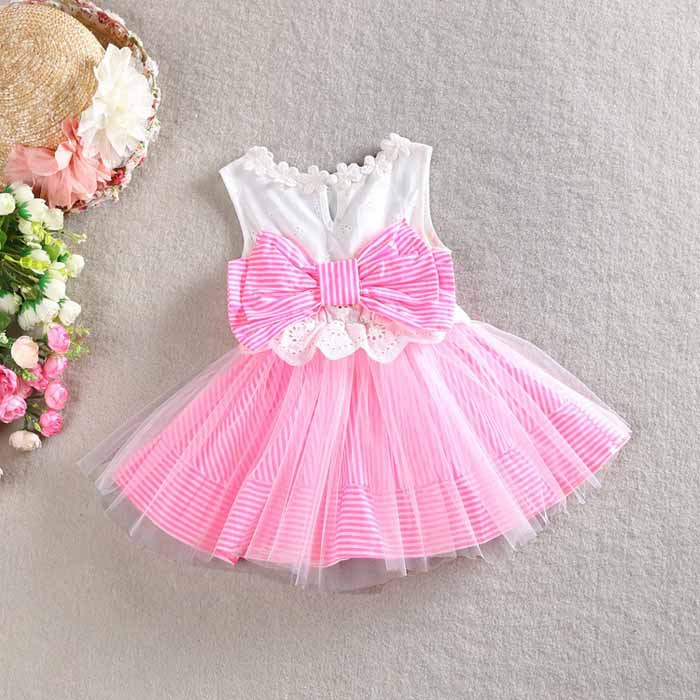 Magnificent Baby Baby Girls Stripe Dress with Bow