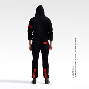 Image 4 - TEE7 Mens Sweatpants Game WOW Tribe Forever Emblem Cotton Casual Horde Cosplay Costume Male Black Printed High Quality Trouser