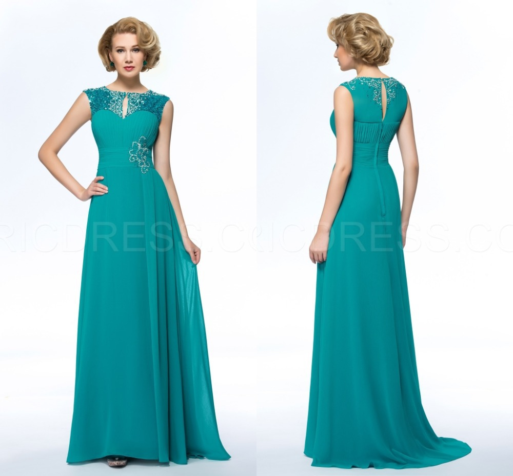 Fashion Chiffon Beaded Plus Size Mother of the Bride Dresses Chiffon ...