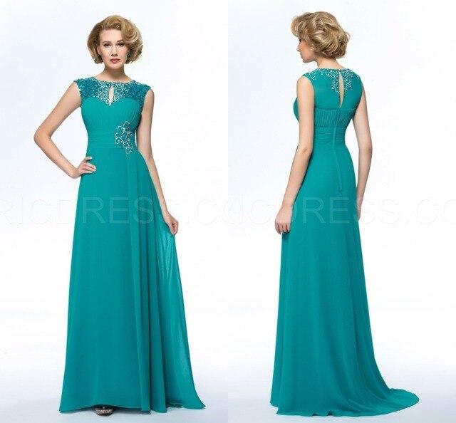 Fashion Chiffon Perlen Plus Size Mutter der Braut Kleider Chiffon ...