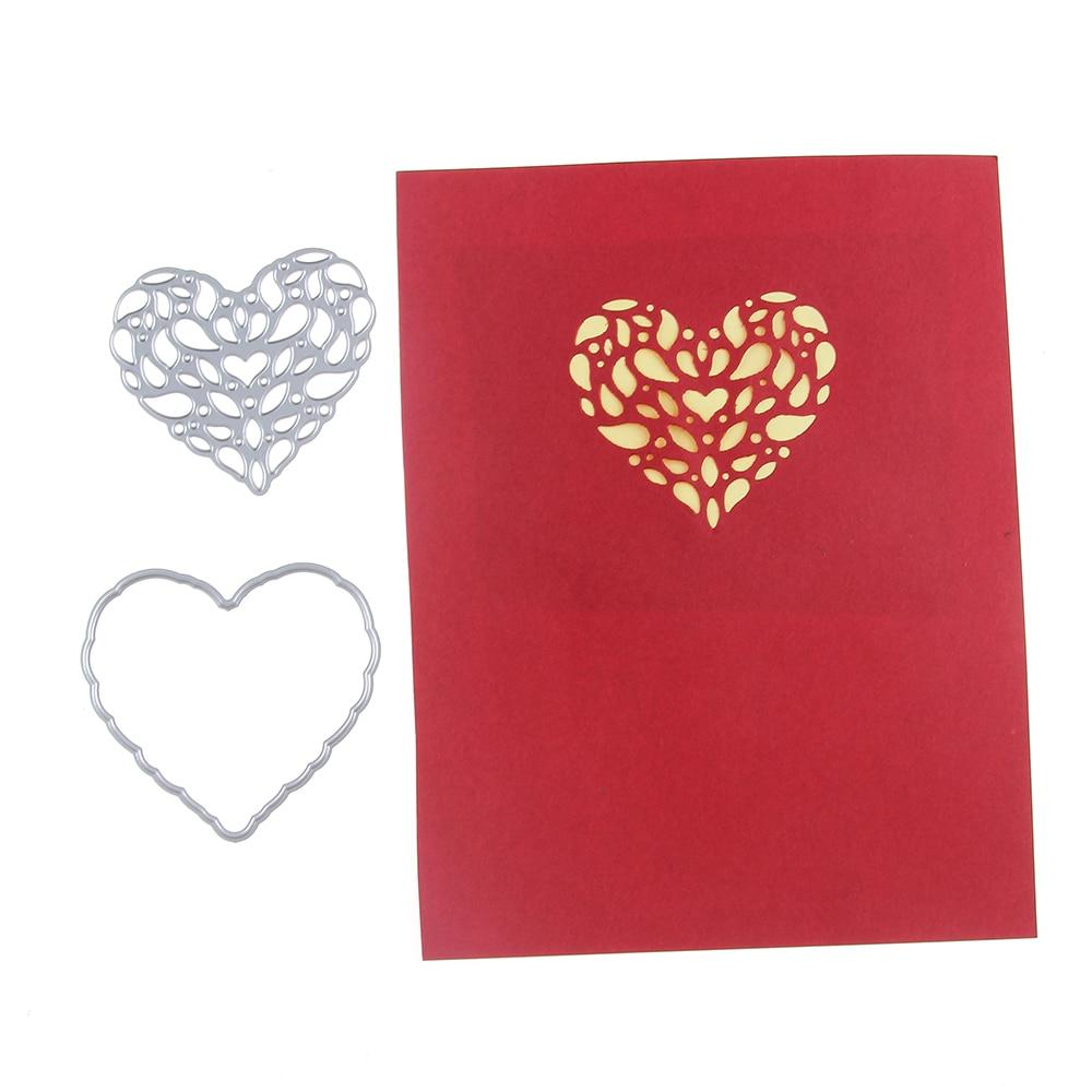 70*63mm scrapbooking DIY LACE LOVE frame Shape Metal steel cutting die flower Shape Book photo album art card Dies Cut