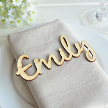 Personalized Wooden laser cut names,Custom Wedding place cards Name settings,Rustic wedding names Laser wood tags