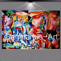 100% Hand painted Textur oil painting on canvas Famous artist Picasso abstract painting Guernica art picture decoration painting