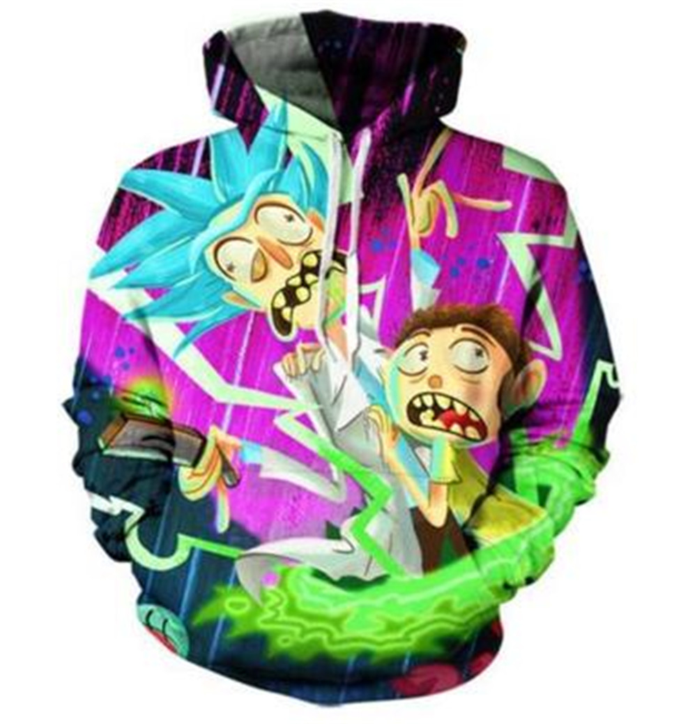 Rick and Morty cosplay costumes 3D Print unisex sweatshirt hoodies with big pocket Scien ...