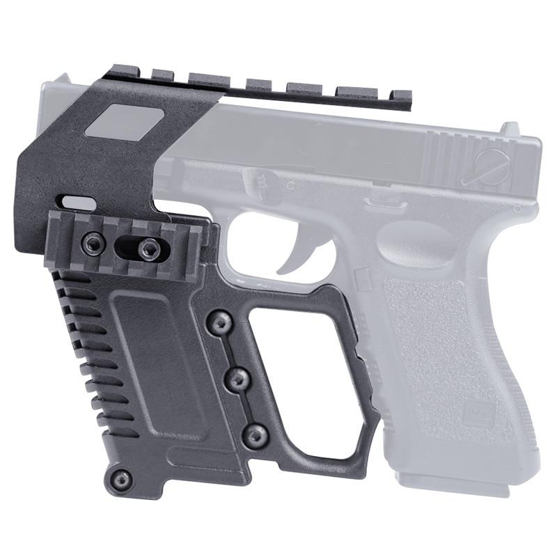Glock Series Rail Base Loading Device Pistol Carbine Kit Quick Reload for Glock G17 G18 G19 Series Mount Hunting