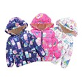 China New Fashion Winter Baby Girl Graffiti Cotton clothing Plus Cashmere Keep Warm Coat For 2-7Years Baby Girl