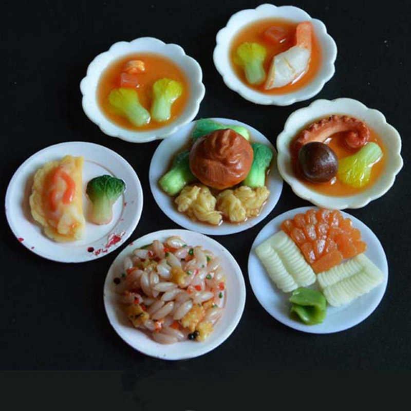 33 шт. 1/6 весы кукольный домик Миниатюрный пластиковый набор тарелок модель ролевые игры мини кукла для еды аксессуары Подходит Игрушка TY0249