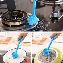 Кухонная висячая щетка с длинной ручкой, диспенсер для жидкого мыла, щетка для мытья посуды