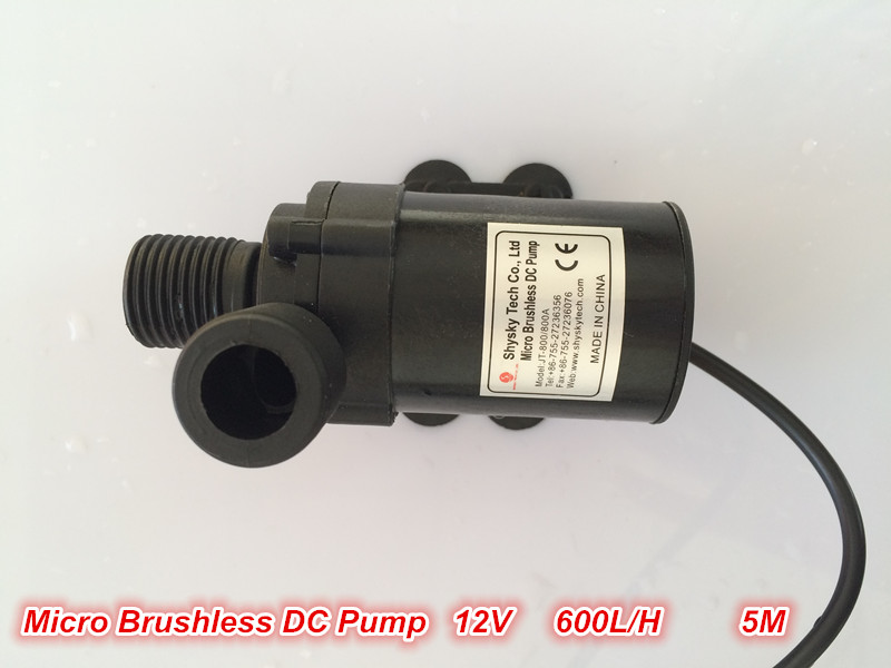 2pcs/ Lot Micro DC Pump Brushless Magnetic Drive Submersible Centrifugal Water Pump 12V 600L/H 14.4W Aquarium Solar Fountain dc 12v 1a powerful micro brushless magnetic amphibious appliance water pump