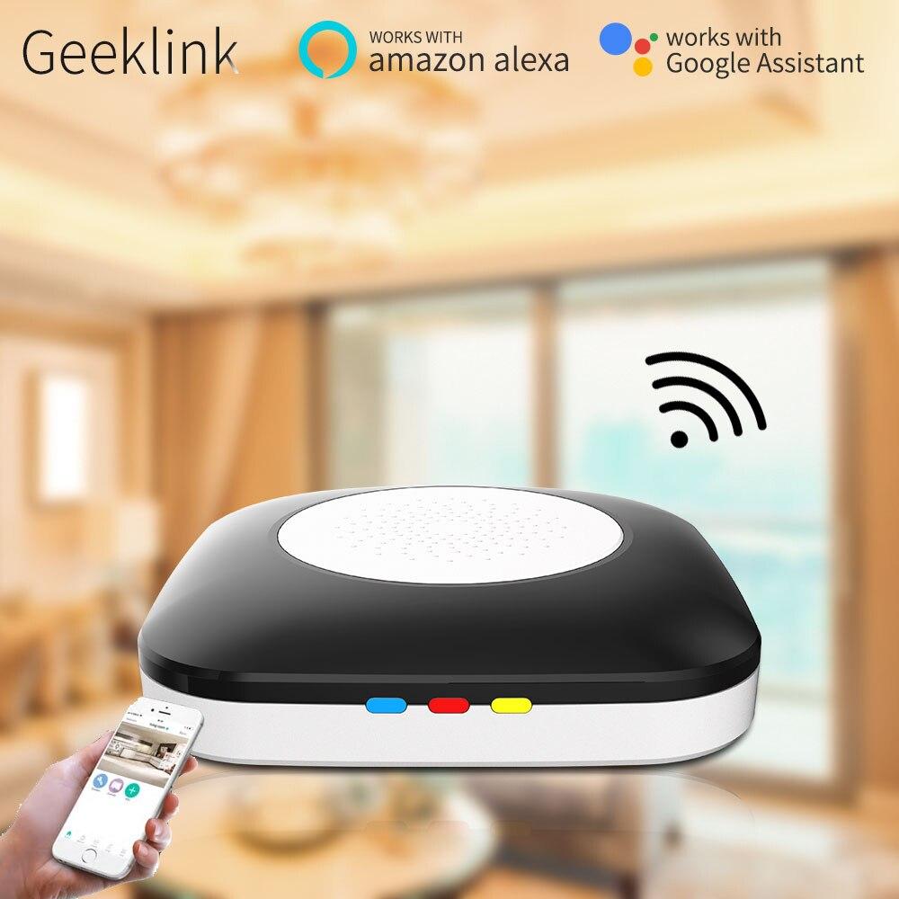 Geeklink Mini Hôte Smart Domotique Travail avec Alexa Google Maison WIFI + IR + RF télécommande Domotica application ios et android