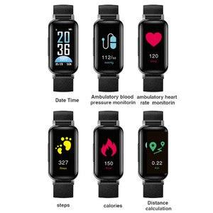 Image 4 - Pulseira smart t89, com fone de ouvido duplo, para esportes, fitness, bluetooth, monitor cardíaco, pressão sanguínea, a prova d água