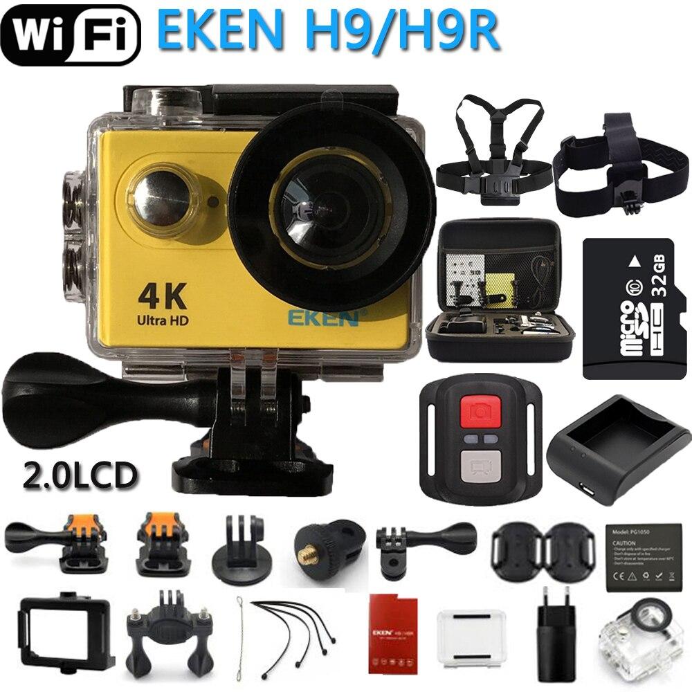 Original EKEN H9R H9 Action Camera Ultra HD 4K Sports Camcorder Remote WiF Mini Helmet Cam 2.0 170D Wide Angle For RC Drone 2017 arrival original eken action camera h9 h9r 4k sport camera with remote hd wifi 1080p 30fps go waterproof pro actoin cam