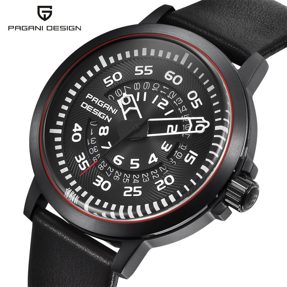 PAGANI DESIGN Unique Design Hollow Calendar Fashion Brand Men's Watches Large Dial Design Waterproof Quartz Watch Dropshipping printio платье без рукавов