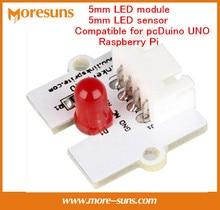 Fast Free Ship 4pcs/lot 4 color optional 5mm LED module/5mm LED sensor compatible for pcDuino UNO Raspberry Pi