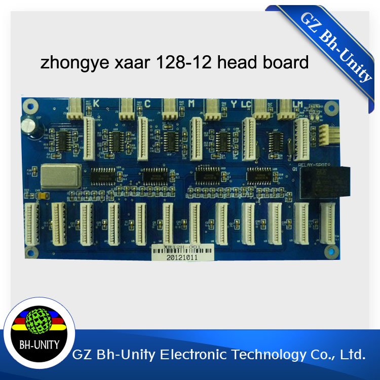 New and High Quality !ZhongYe Xaar 128 Head Board (12 Heads ) for solvent Printing machine brand new zhongye 12 heads printer xaar 128 head board carriage board eco solvent printer spare parts