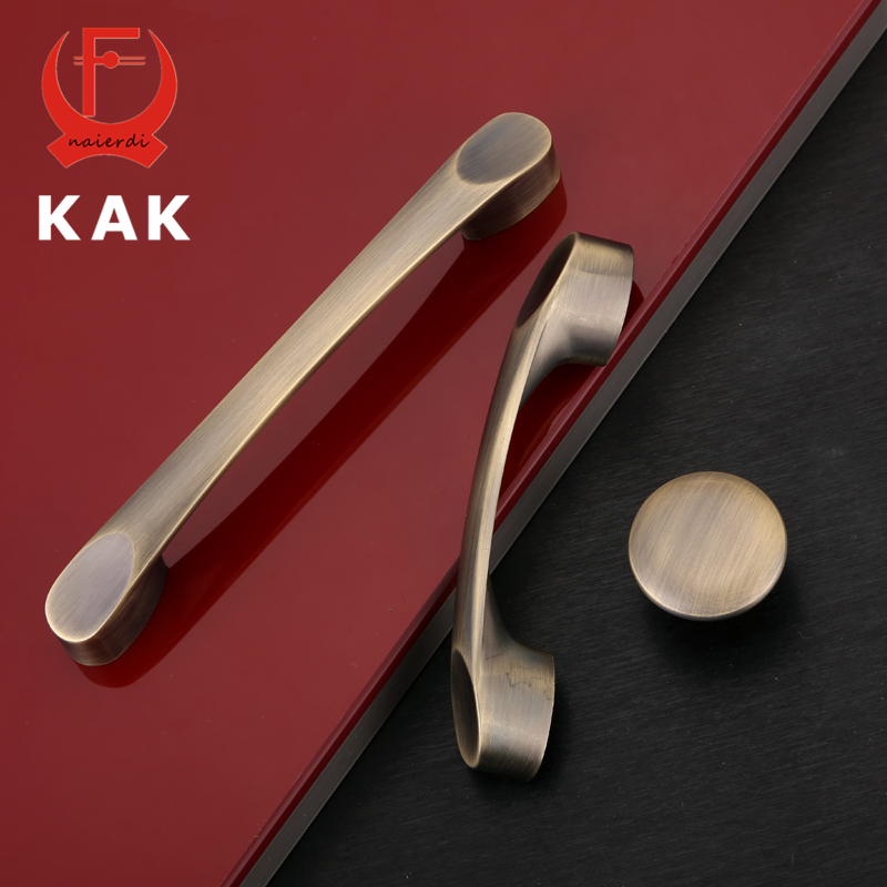 KAK-G116 Antique Bronze Vintage Handles Kitchen Cabinet Knobs Cupboard Door Handles Wardrobe Drawer Pulls Furniture Hardware 6pcs bronze chinese door handle wardrobe handle kitchen knobs cabinet hardware vintage handles decorative knob asas para cajones