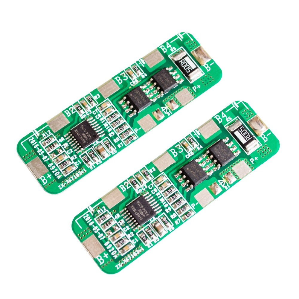2pcs 4A-5A PCB BMS Protection Board for 4 Packs 18650 Li-ion lithium Battery Cell 4S new arrival 50x21x1mm 10a bms charger protection board for pack of 3 18650 li ion lithium battery cell wholesale price board