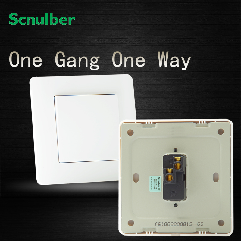 1 gang 1 way luxury white 16A 250V flush mounted electric wall ...