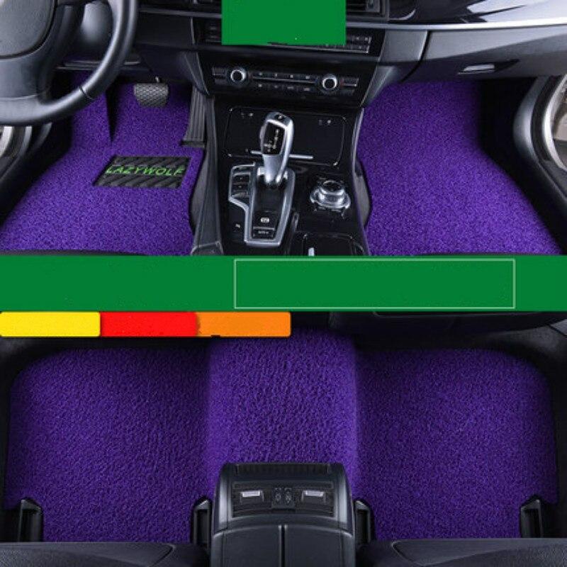 Wire Loop Carpets Waterproof Non Slip Durale Custom Car Floor Mats For Peugeot 308 3008 206 207 307 407 408 508 2008 4008 301