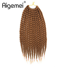 Aigemei 80g-90g 14 Inches/pc Medium Box Braids Crochet Hair Extensions High Temperature Fiber Synthetic Braiding