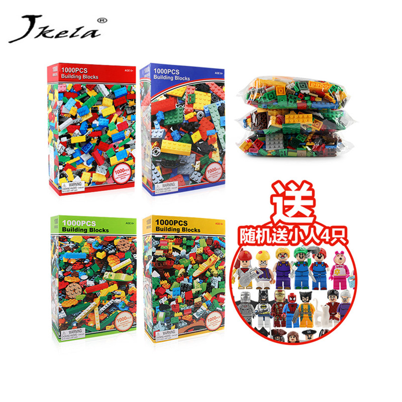 [Jkela] 1000pcs Bricks Designer Creative Classic Brick DIY Building Blocks Educational Toys Bulk For Gift Compatible Legoings 1000pcs bulk bricks educational children toy compatible with major brand blocks 10 colors diy building blocks creative bricks