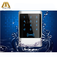IP68 Waterproof Touch Led Keypad 13.56MHZ Smart Card Reader For Access Control System Wiegand26 And 34 IC MF Card Access Reader