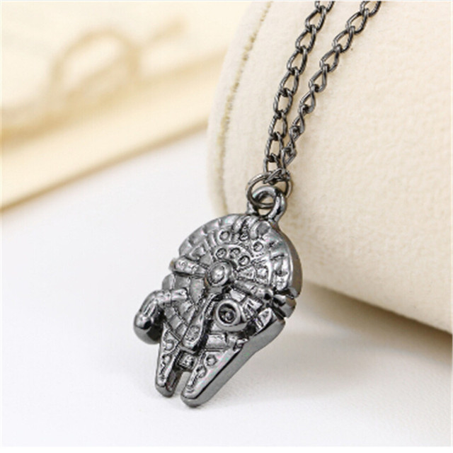 Star Wars Necklace Millennium Falcon Darth Vader Metal