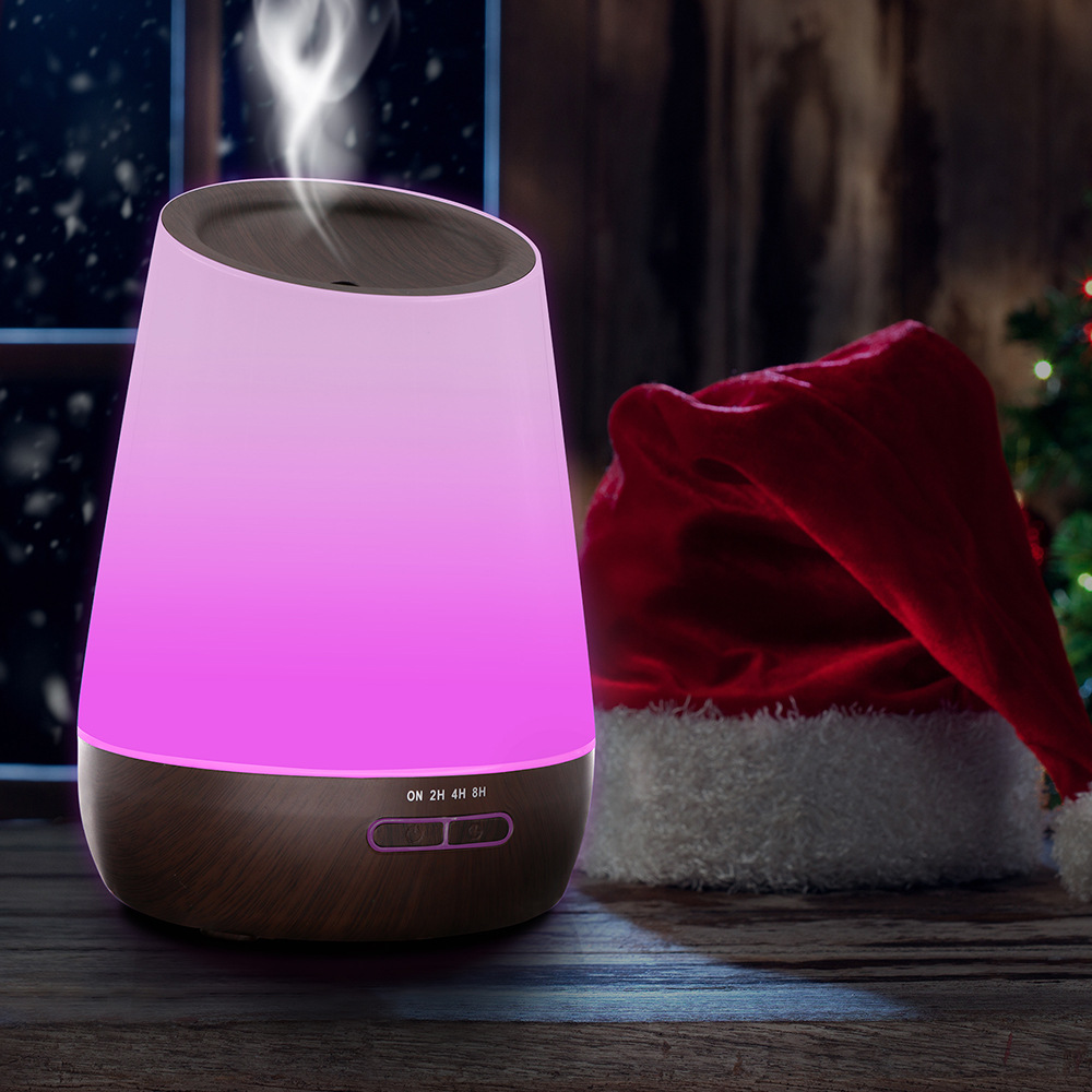 500ml Ultrasonic Air Humidifier Wood Grain Essential Oil Diffuser Aromatherapy Mist Maker LED Lights Aroma Diffuser for Home Spa brand new portable led lights wood grain expansion machine negative ion oil diffuser humidifier aromatherapy machine for home