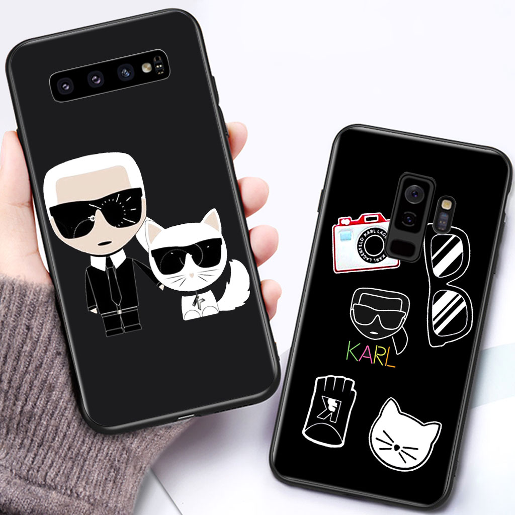 Soft-Silicone-Case Back-Cover Coque Fashion S7 Edge S8 Karl Lagerfeld S9plus Note 8 Samsung Galaxy