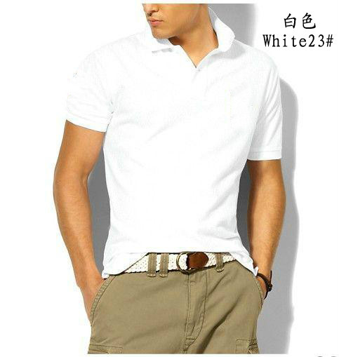 Polo Shirt Men Brand Clothes Solid Color Polos Shirts Camisa Masculina Mens Casual Cotton Short Sleeve Polos <font><b>6XL</b></font> <font><b>hombre</b></font> jerseys image