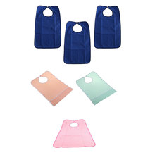 3pcs Waterproof Crumb Catcher Bib Meals Eating Protector Disability Patient Aid Apron for Feeding