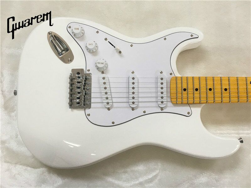 Electric guitar/Gwarem left hand st guitar/white color/guitar in china human 2016 china hot guitar electric guitar blue left hand guitar piano integrally headstock free shipping