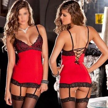 Hot Sale Sexy Womens Lace Lingerie Dress Underwear Babydoll Nightwear Sleepwear G-string F05
