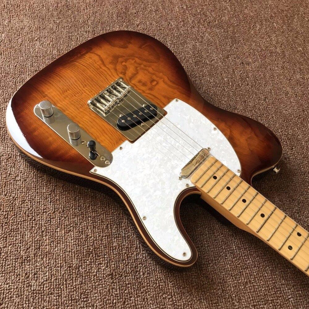 Fábrica directa de la fábrica tienda de encargo marrón eléctrica Guitarras, fotos reales