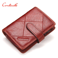 CONTACT S Women Wallet Fashion Ladies Short Wallets Genuine Leather Small Wallet Coin Purse Girl Card